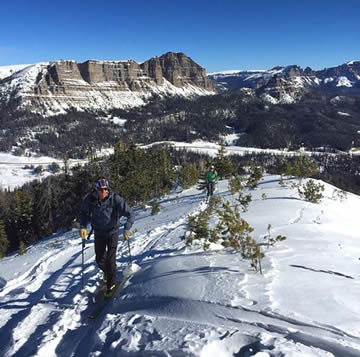 Backcountry Skiing in Wind River Country on Togwotee Pass. Photo: Charlie Manganiello