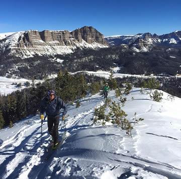 Skiing on Togwotee Pass. Photo: Charlie Manganiello