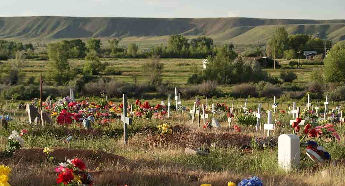 Sacajawea Cemetery on the Wind River Indian Reservation. Photo: Jennie Hutchinson
