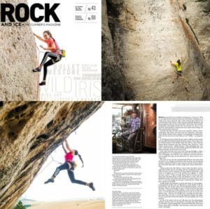 Images from Rock and Ice Magazine featuring Wild Iris