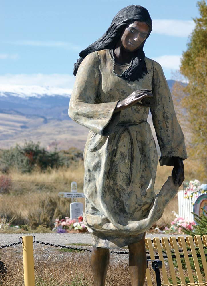 Statue of Sacajaweain Fort Washakie, Wyoming