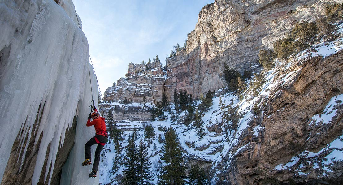 Ice Climbing, Dubois. Photo: Jared Steinman