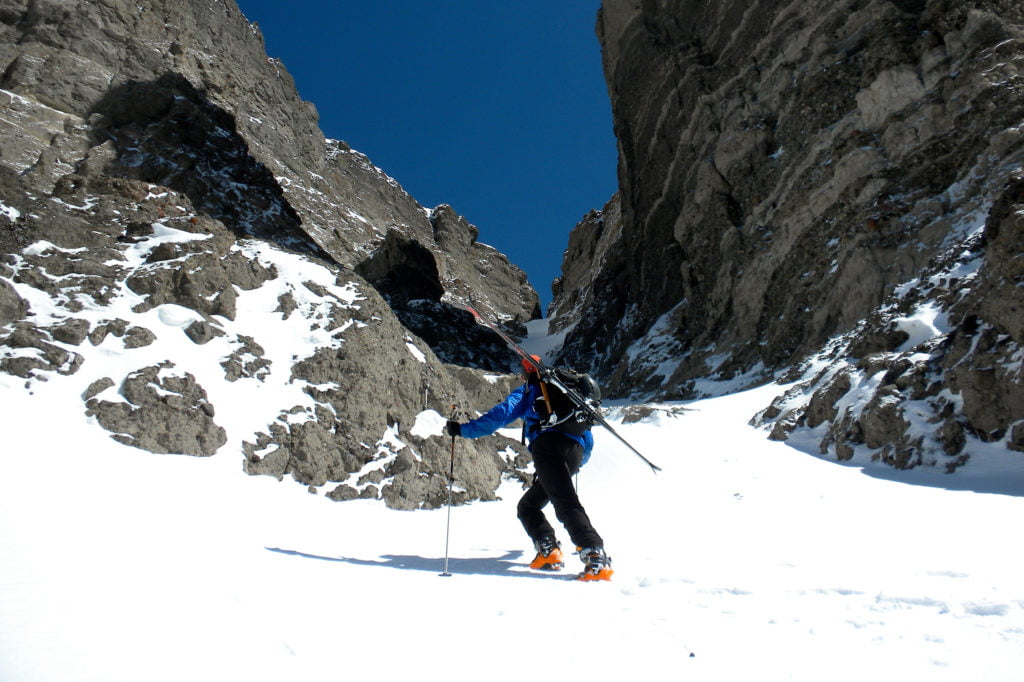 Backcountry skiing in Wind River Country, Dubois.