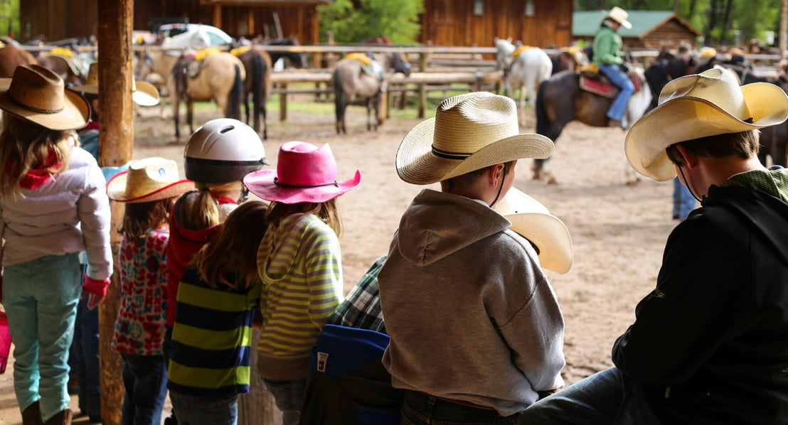 Kids activities at the horse corral. Photo: Kristin Foster