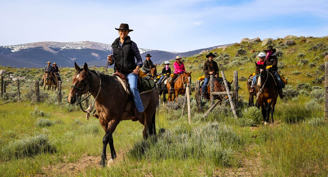 Trail Riding at a Dude Ranch Photo: Kristin Foster