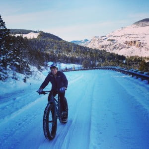 Smiles on a fat bike in Wind River Country