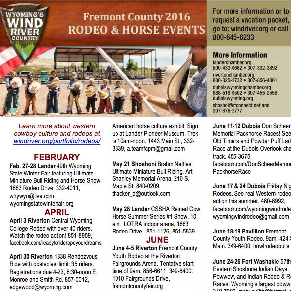 Rodeo Schedule