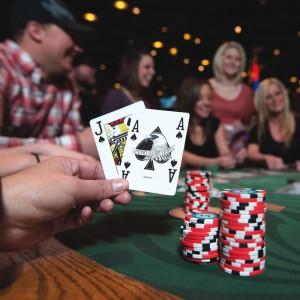 Blackjack at a WRIR casino