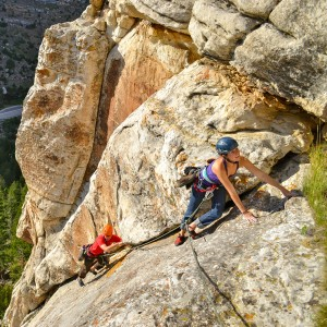 Sinks Canyon is a renowned rock-climbing destination, photo by Jared Steinman