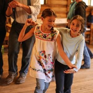 Kids swing dance in Dubois