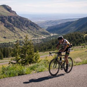 Biking Sinks Canyon switchbacks