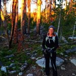 Shawna, during sunrise, about a half mile into her Epic hike.