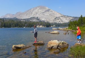 Fishing for trout – and catching – at Upper Silas Lake. (Photo by Shelli Johnson, YourEpicLife.com)