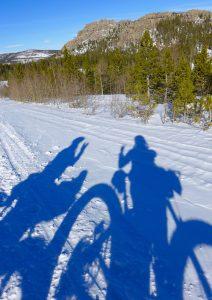 Fat bike shadows