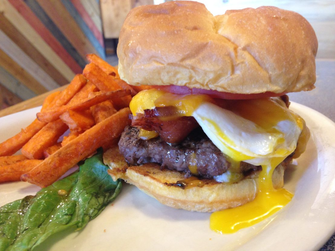 Brunch burger at the Trailhead Restaurant