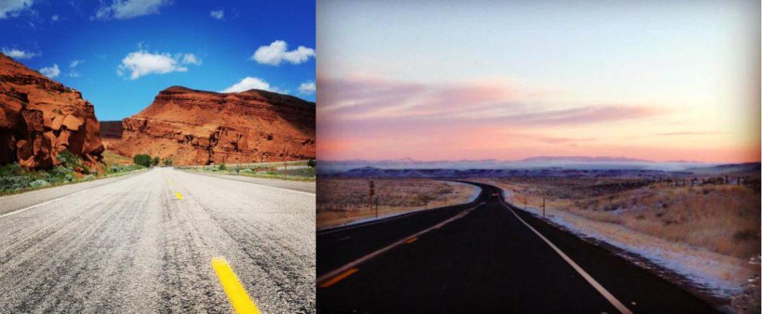 Two scenic roads