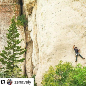 rock climber in instagram image
