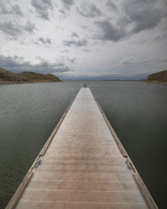Boat dock at Boysen Reservoir