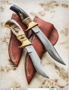 Two knives by Butch Devereaux