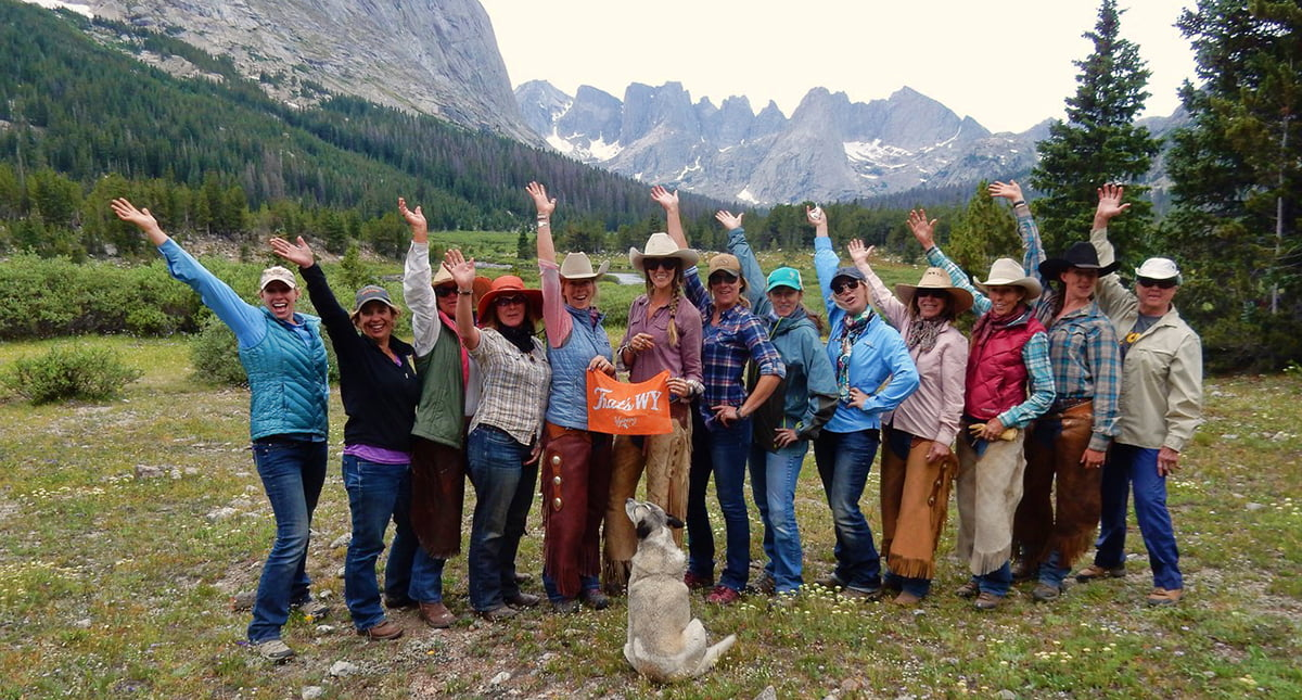 Wyoming Women on a yoga and horseback trip in the Wind River Mountains.
