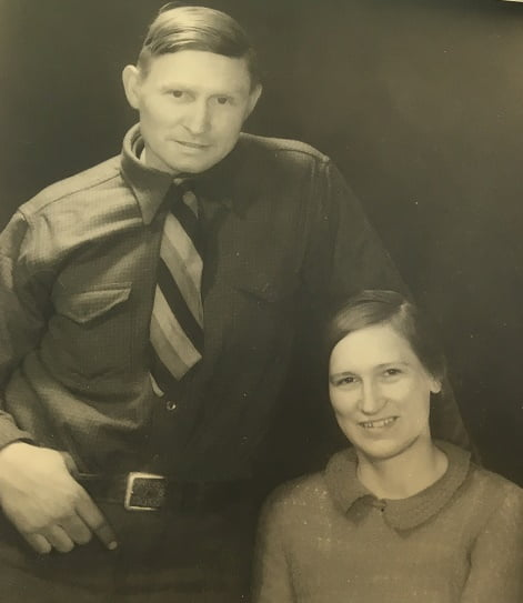 Joe and Mary Black of Dubois, Wyoming, photo taken in the 1930s.