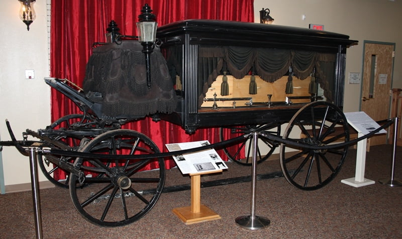 Hearse from the 1900s in the Pioneer of the American West.