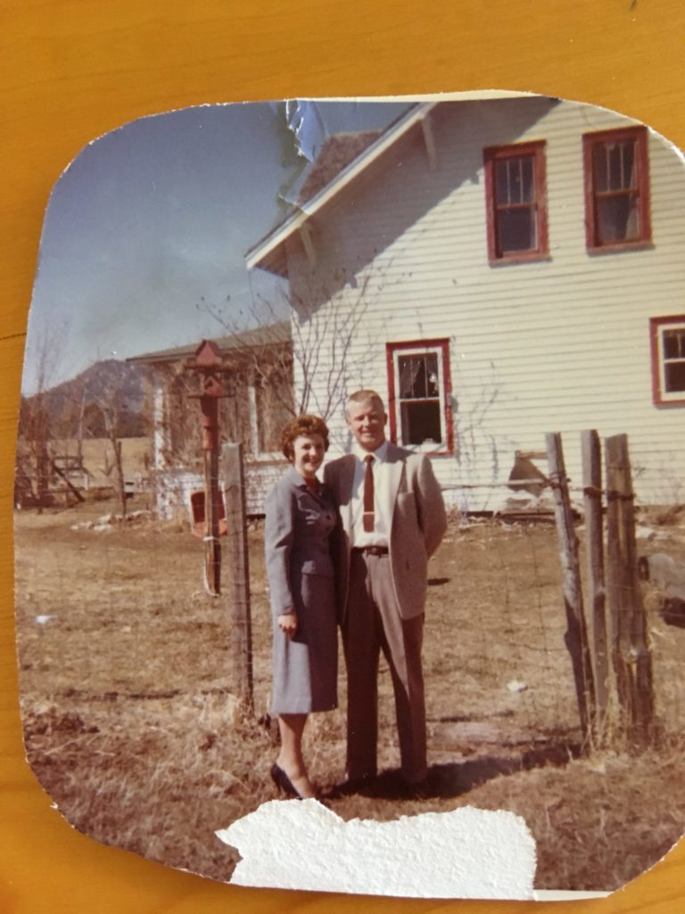 Carol and Pete Petera outside their home in Saratoga, Wyoming.