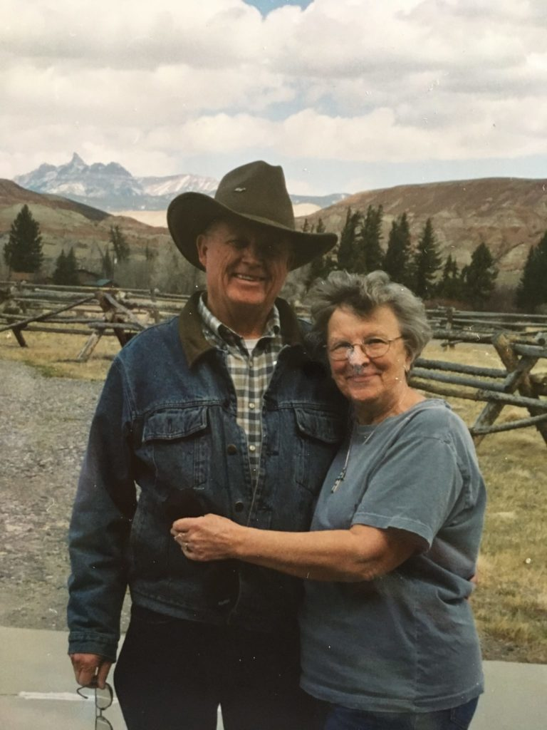Peter and Carol in Dubois, Wyoming's Wind River Country.