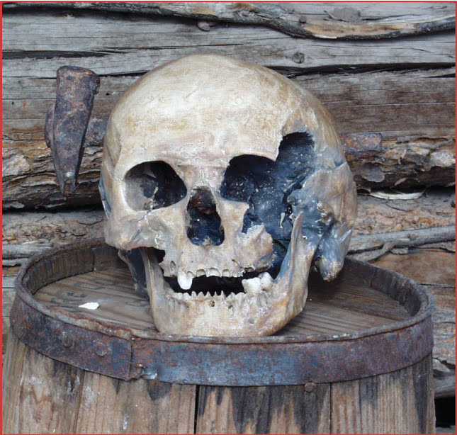 The skull at Lander Pioneer Museum makes it one of the spookiest places in Wyoming