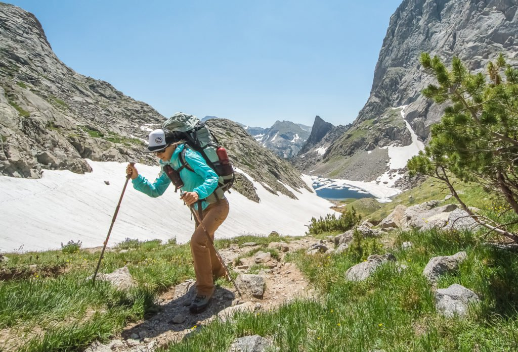 Woman hiking in Wyoming