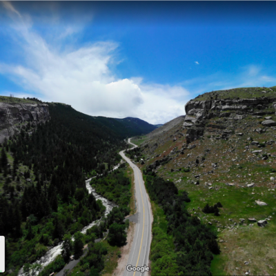 Virtual Road Trip: View over Sinks Canyon in Wind River Country